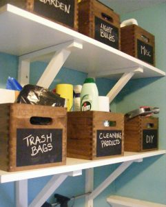 organize laundry room
